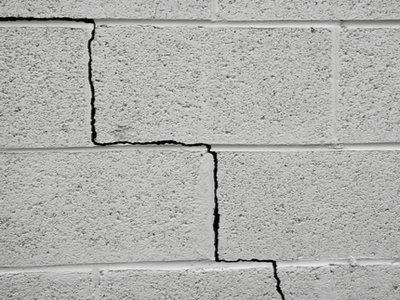 Foundation that is cracked