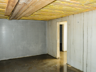 Basement that is being renovated